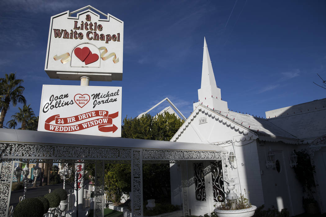 A Little White Wedding Chapel in Las Vegas, Wednesday, Jan. 24, 2018. Erik Verduzco Las Vegas Review-Journal @Erik_Verduzco