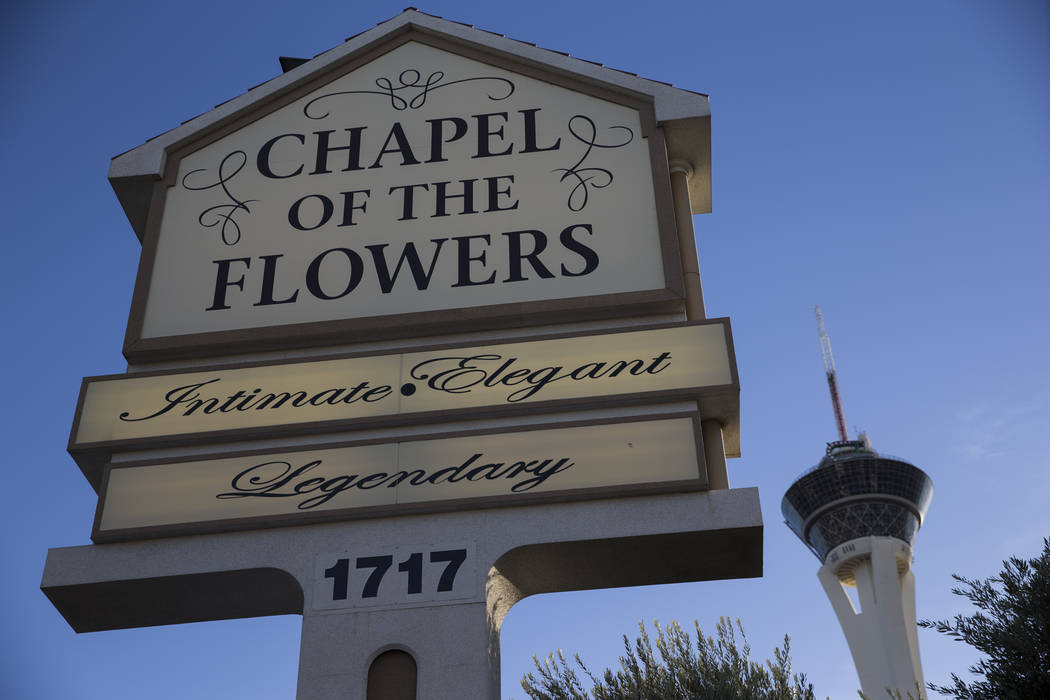 Chapel of the Flowers in Las Vegas, Wednesday, Jan. 24, 2018. Erik Verduzco Las Vegas Review-Journal @Erik_Verduzco