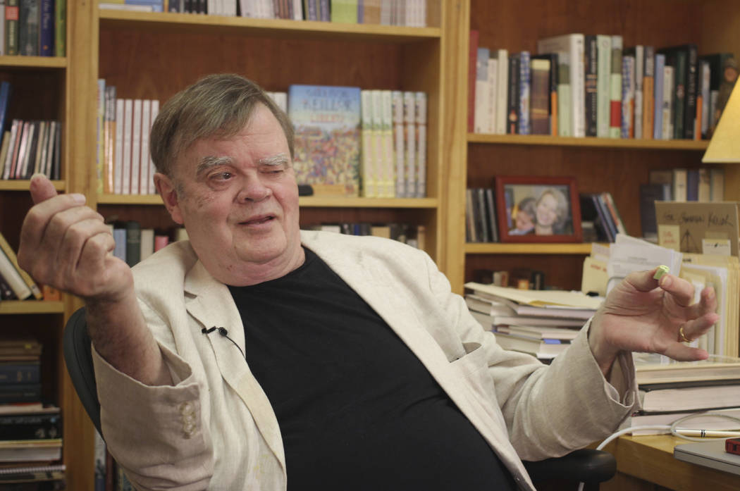 "Garrison Keillor, creator and former host of ""A Prairie Home Companion,"" talks at his St. Paul, Minn., office, July 26, 2017. Keillor was been fired by Minnesota Public Radio over allegations of i ..."