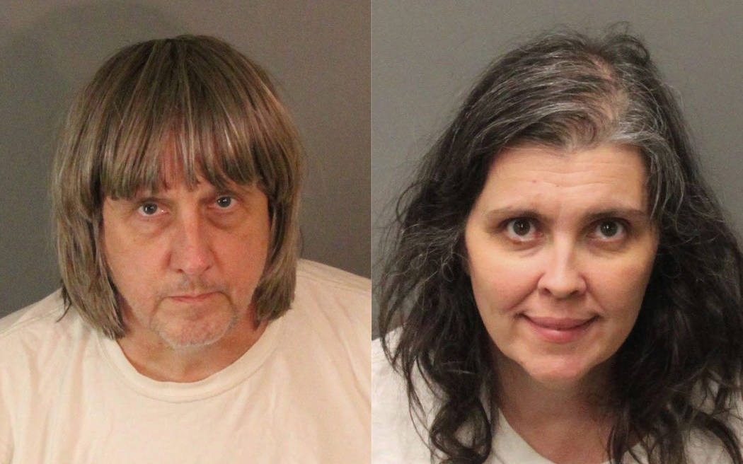 David Allen Turpin, left, and Louise Anna Turpin. More than $120,000 has been donated to help 13 siblings in California who authorities say were kept chained to beds for months by their parents, t ...