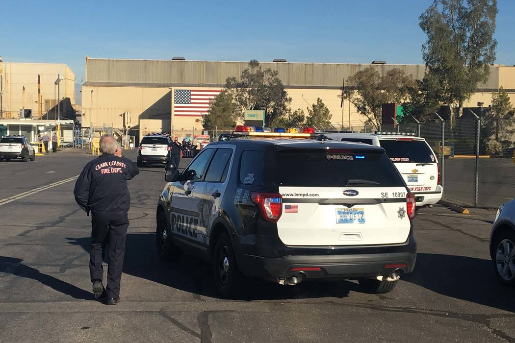 An explosion rocked the TIMET plant near downtown Henderson Wednesday morning, Jan. 24, 2018.(Bizuayehu Tesfaye/Las Vegas Review-Journal) @bizutesfaye