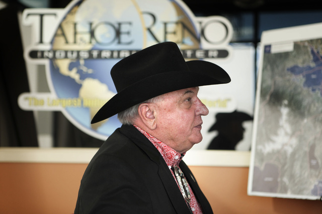 Real estate broker Lance Gilman in his office at McCarran, Nev. on Thursday, Dec. 19, 2013. (Jeff Scheid/Las Vegas Review-Journal)