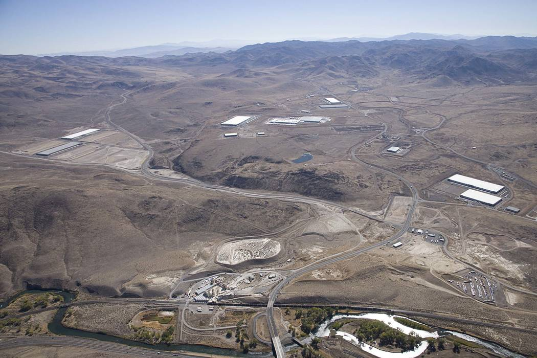 An undated aerial view of the Tahoe Reno Industrial Center. (Keith Owens/Tahoe Reno Industrial Center)