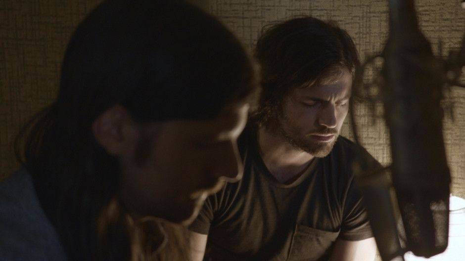 """Seth Avett, left, and Scott Avett appear in a scene from the documentary """"May It Last: A Portrait of the Avett Brothers."""" (HBO)"""