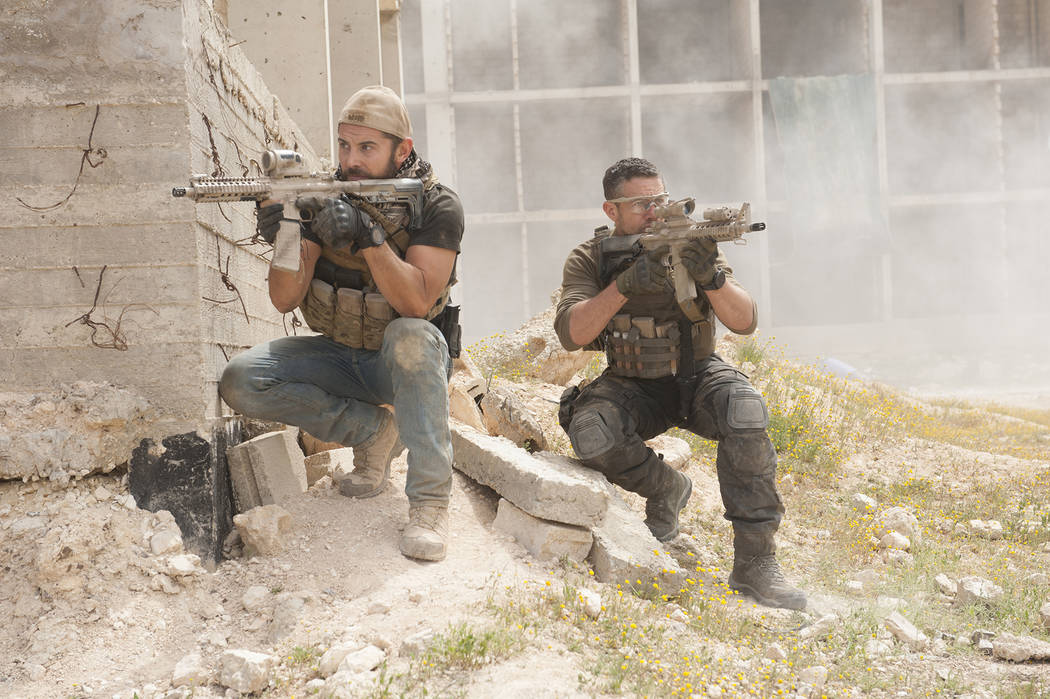 "Daniel McPherson, left, and Warren Brown star in the reboot of ""Strike Back."" (Liam Daniel/Cinemax)"
