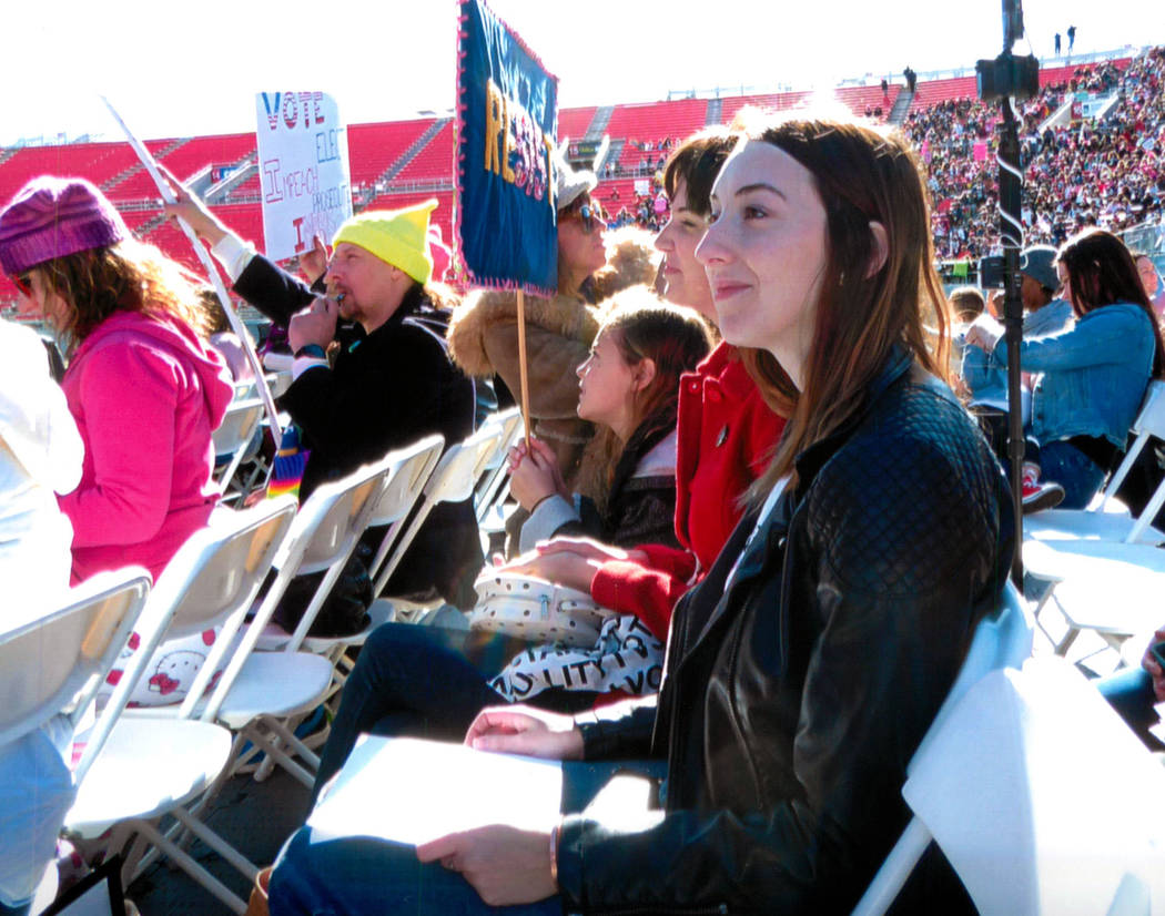 Brianna Fox-Priest attended the Jan. 21, 2018, Women's March: Power to the Polls to support women's rights. Jane Ann Morrison Las Vegas Review-Journal