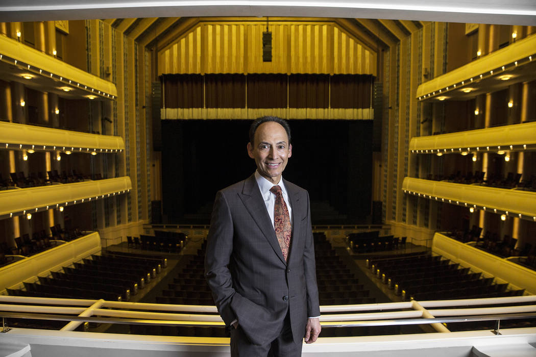 Randy Garcia, local philanthropist and investment counselor, at the Smith Center for the Performing Arts on Thursday, Jan. 25, 2018, in Las Vegas. Benjamin Hager Las Vegas Review-Journal @benjamin ...