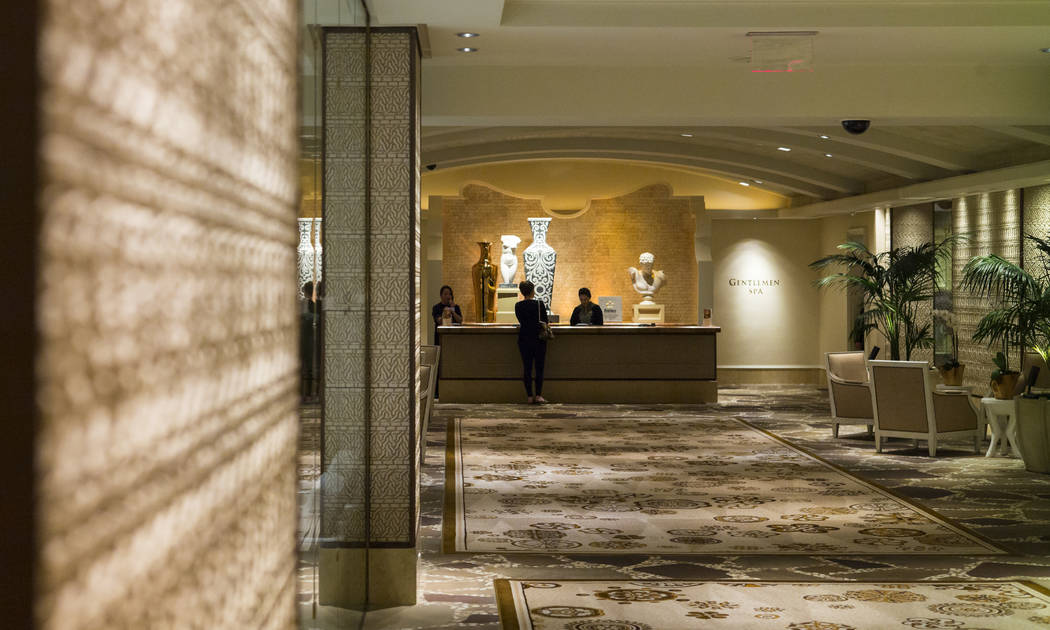 The lobby of The Spa at Wynn Las Vegas on Friday, Jan. 26, 2018. The Wall Street Journal reported allegations that Steve Wynn sexually assaulted employees, including many of those who worked at th ...