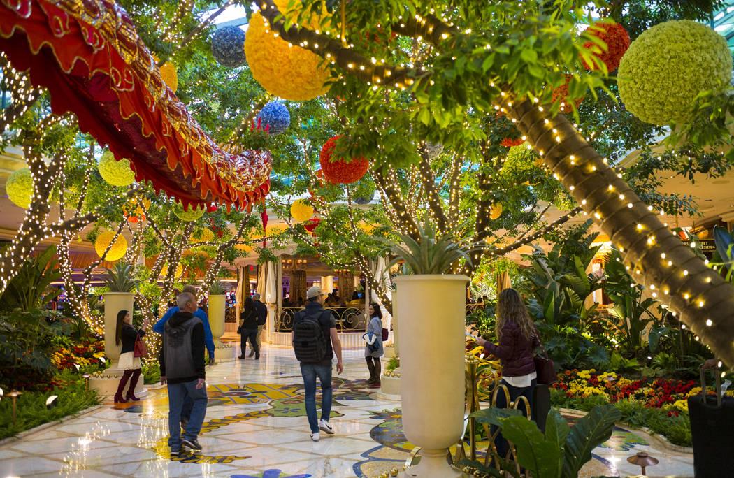 Guests walk inside Wynn Las Vegas on Friday, Jan. 26, 2018. Chase Stevens Las Vegas Review-Journal @CSStevensphoto
