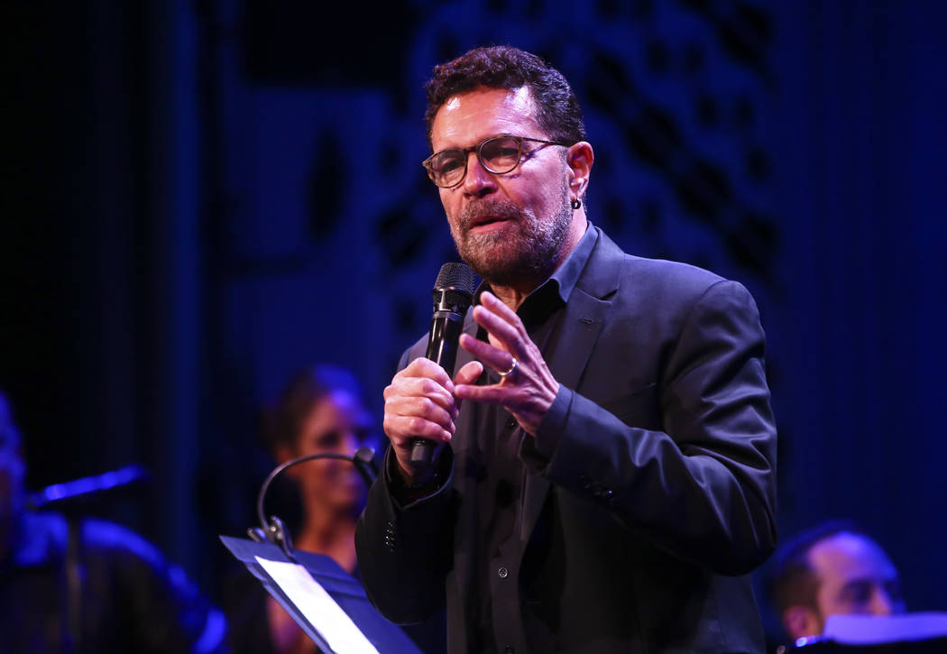 Clint Holmes during the Composers Showcase of Las Vegas at The Smith Center's Cabaret Jazz in Las Vegas on Thursday, Aug. 17, 2017. Chase Stevens Las Vegas Review-Journal @csstevensphoto