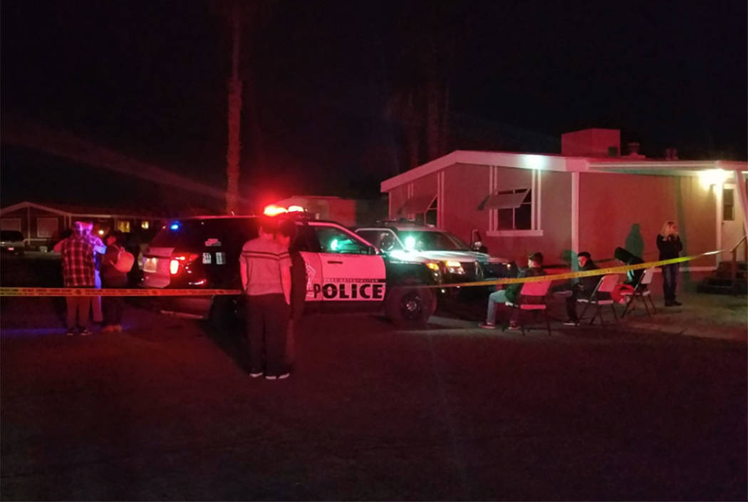 a71a5ebfd8 Las Vegas police investigate the scene of a fatal shooting in the 1200  block of Lamb