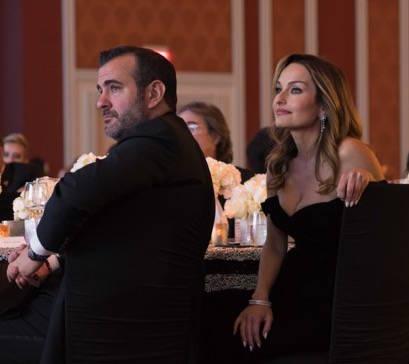Giada De Laurentiis and her boyfriend, Shane Farley, are shown at the Nevada Ballet Theatre's Black and White Gala at Wynn Las Vegas on Saturday, Jan. 27, 2018. (Cashman Photogrpahy)