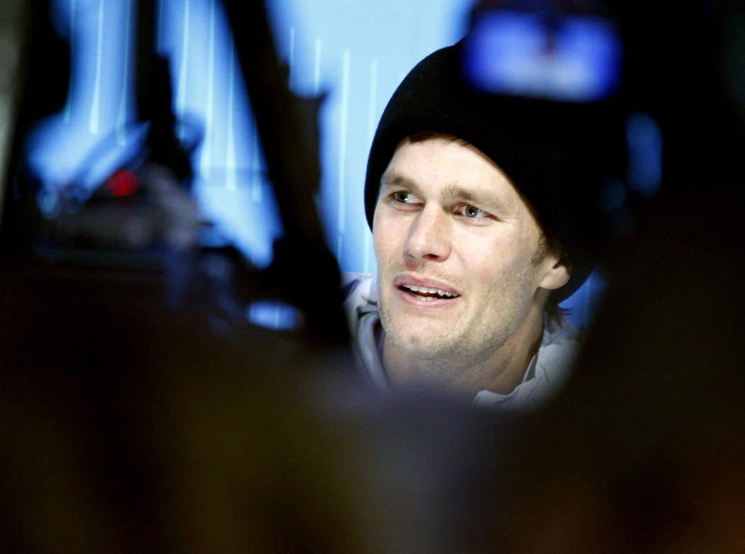 New England Patriots quarterback Tom Brady during Super Bowl 52 Opening Night at the Xcel Energy Center in St. Paul, Minn., Monday, Jan. 29, 2018. Heidi Fang Las Vegas Review-Journal @HeidiFang