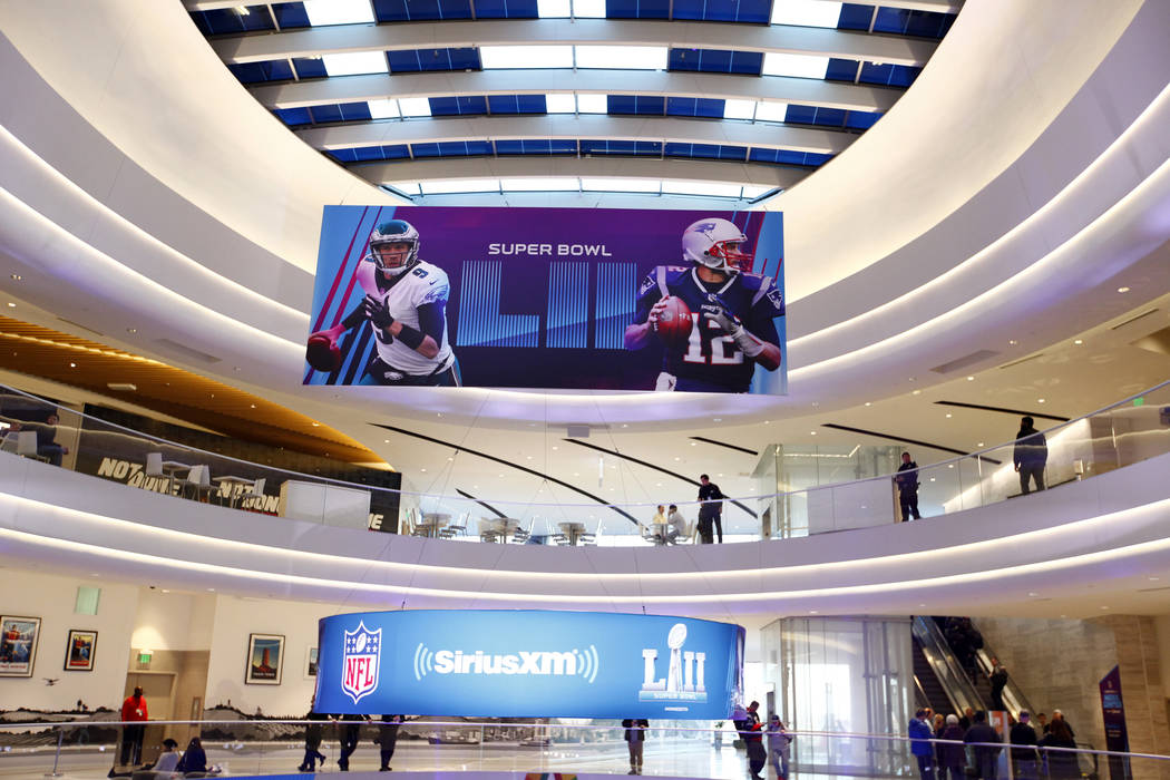 The Mall of America in Bloomington, Minn., is decorated with Super Bowl 52 banners on Monday, Jan. 29, 2018. Heidi Fang Las Vegas Review-Journal @HeidiFang