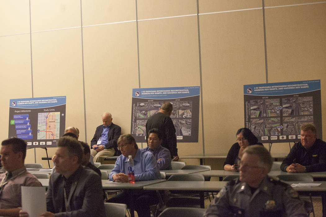The Nevada Department of Transportation held a public meeting to discuss improvements along Interstate 15 that are expected to help relieve traffic congestion near the Raiders stadium site at the  ...