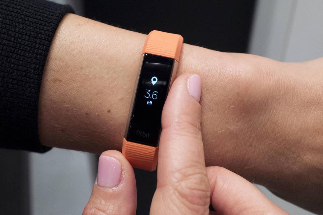 Fitbit's new Alta HR device is displayed in New York. The Pentagon is doing a broad review of how military forces use exercise trackers and other wearable electronic devices in the wake of revelat ...