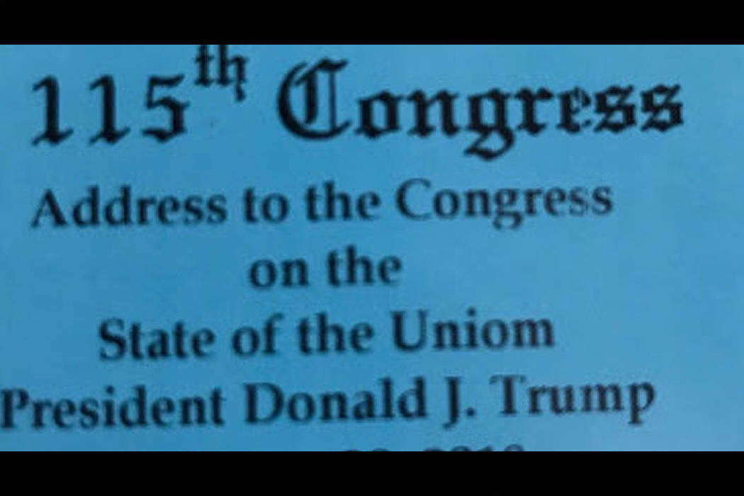 Lawmaker throws shade at DeVos over State of the Union ticket typo