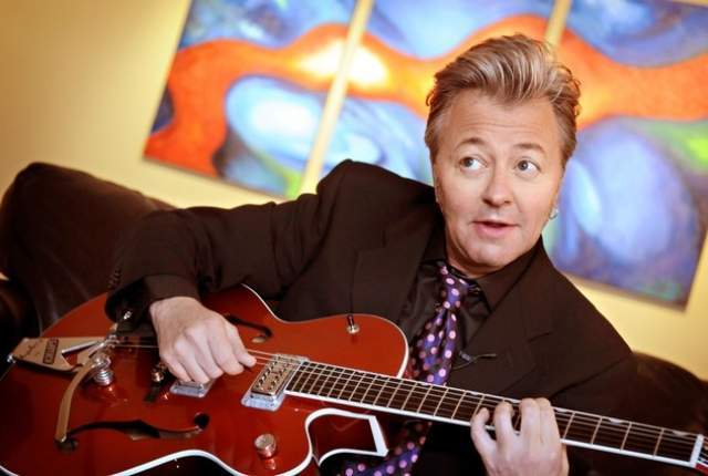 Brian Setzer, the original frontman for Stray Cats, has frequently performed in Las Vegas with Brian Setzer Orchestra. (AP Photo/Dawn Villella)