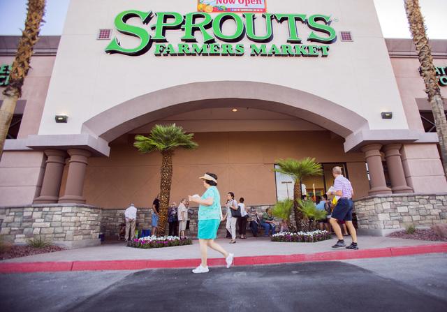 People wait in line for the grand opening of Sprouts Farmer's Market, 7530 W. Lake Mead Blvd., on Wednesday, June 29, 2016. Jeff Scheid/Las Vegas Review-Journal Follow @jlscheid