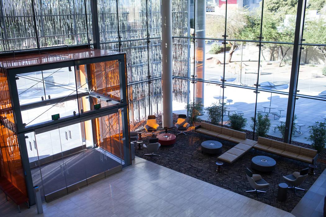 Hospitality Hall at UNLV in Las Vegas, Thursday, Dec. 21, 2017. The building is set to open in late January 2018. Joel Angel Juarez Las Vegas Review-Journal @jajuarezphoto