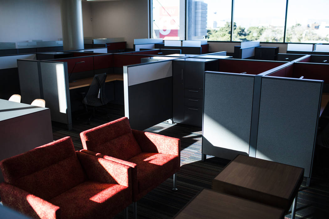 A Ph. D. study room at Hospitality Hall at UNLV in Las Vegas, Thursday, Dec. 21, 2017. The building is set to open in late January 2018. Joel Angel Juarez Las Vegas Review-Journal @jajuarezphoto