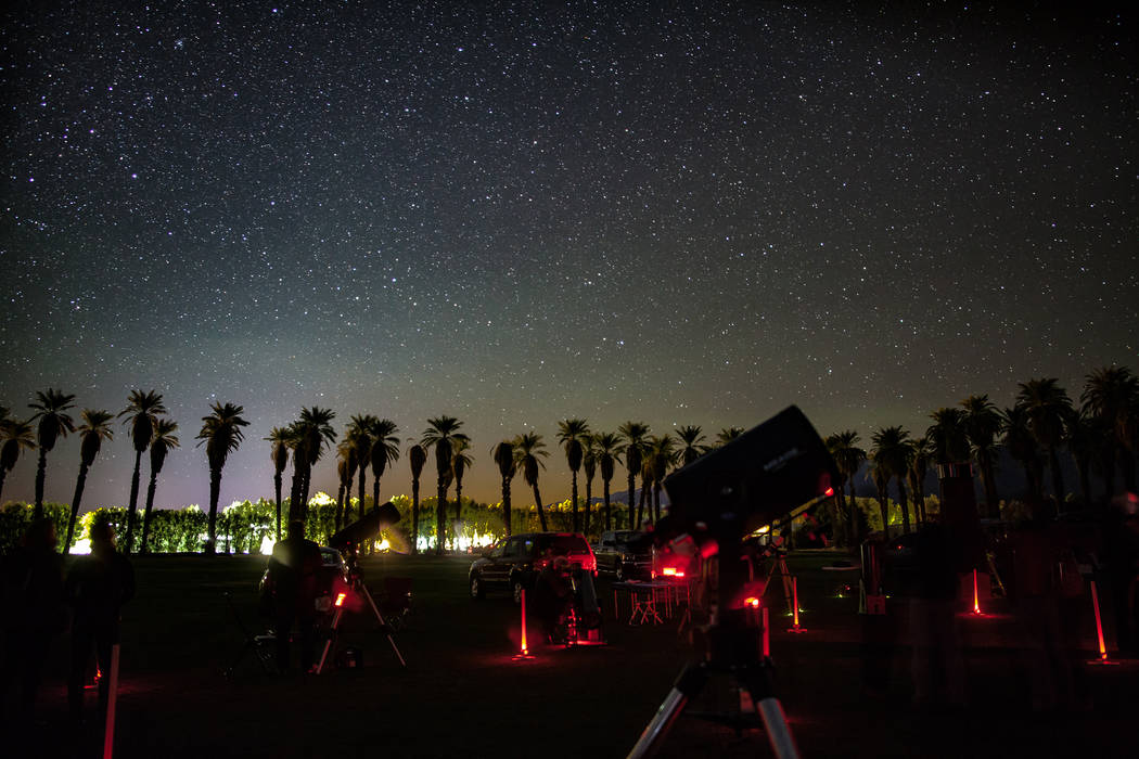 Death Valley National Park in California is one of the places where Las Vegas Astronomical Society organizes stargazing parties. Greg McKay, a member of the group, said that he can still see Las V ...
