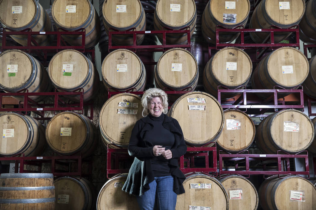 Patty Peters, co-partner at Vegas Valley Winery/Grape Expectations, on Tuesday, Dec. 19, 2017, in Las Vegas. Benjamin Hager Las Vegas Review-Journal @benjaminhphoto