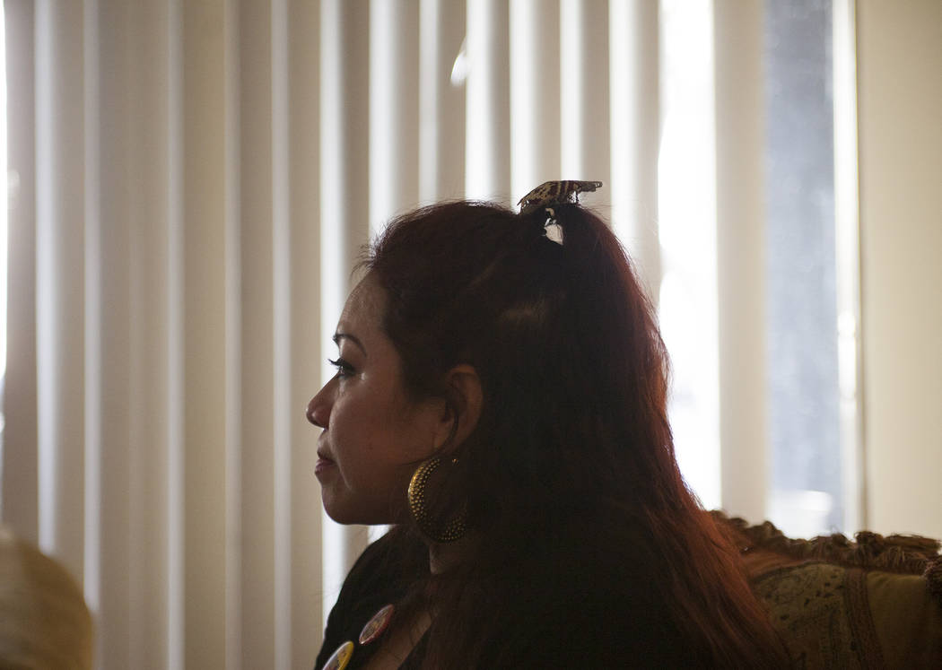 Ericka Lopez talks to the Review-Journal at her home in Las Vegas, Friday, Dec. 22, 2017. Lopez fears her family will be split in half in future immigration decisions. Some are citizens and some a ...