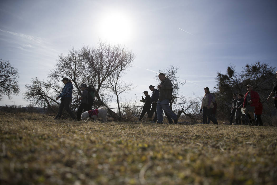 People during the First Day Hike at Spring Mountain Ranch State Park in Las Vegas, Monday, Jan. 1, 2018. Erik Verduzco Las Vegas Review-Journal @Erik_Verduzco