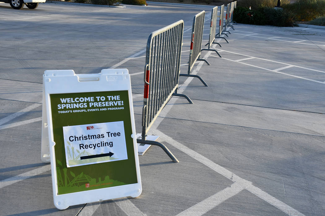 More than 30 community partners help to keep Christmas trees out of Southern Nevada's landfills by supporting the Christmas Tree Recycling Program. (Daria Sokolova/View)