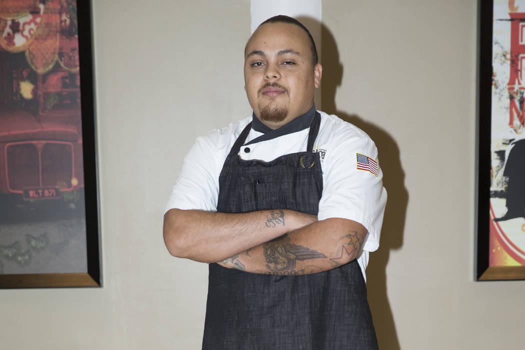 Cristopher Hall, room chef at Pasta Cucina restaurant, at Sunset Station casino-hotel in Las Vegas, Friday, Dec. 29, 2017. Erik Verduzco/Las Vegas Review-Journal