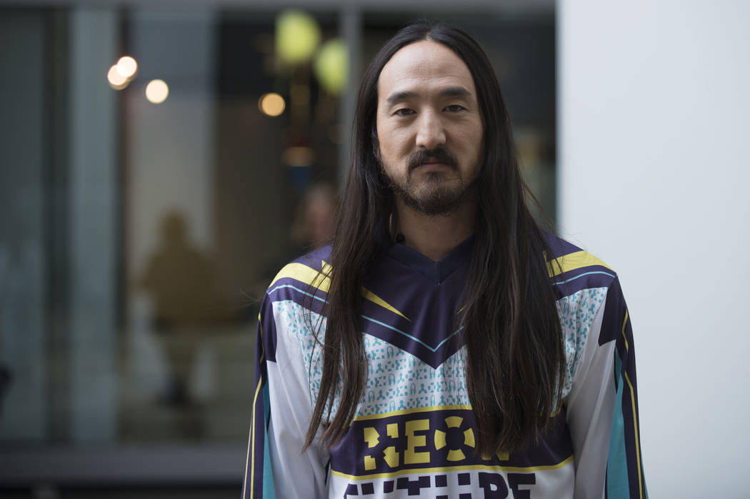 Steve Aoki seen on The Morning Show on Tuesday, Oct. 28, 2014, in Toronto, Canada. (Photo by Arthur Mola/Invision/AP)