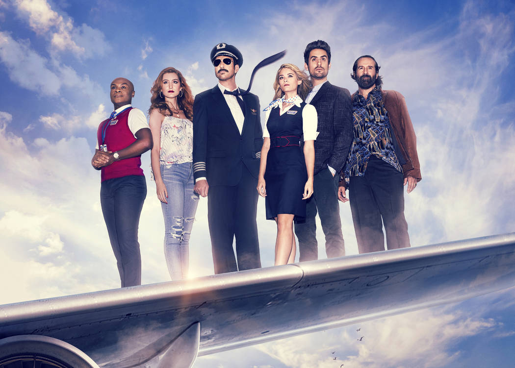 LA TO VEGAS: L-R: Nathan Lee Graham, Olivia Macklin, Dylan McDermott, Kim Matula, Ed Weeks and Peter Stormare in LA TO VEGAS premiering Tuesday, Jan. 2 (9:00 -9:30 PM ET/PT) on FOX.  ©2017 Fo ...