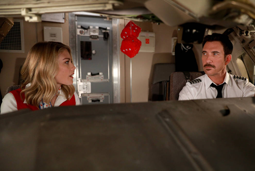 """LA TO VEGAS: L-R: Kim Matula and Dylan McDermott in the """"The Yips And The Dead"""" episode of LA TO VEGAS airing TUESDAY, Jan. 9 (9:00-9:30 PM ET/PT) on FOX. CR: FOX"""