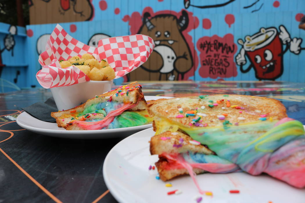 Fiddlestix creates a Unicorn Grilled Cheese. (Janna Karel Las Vegas Review-Journal)