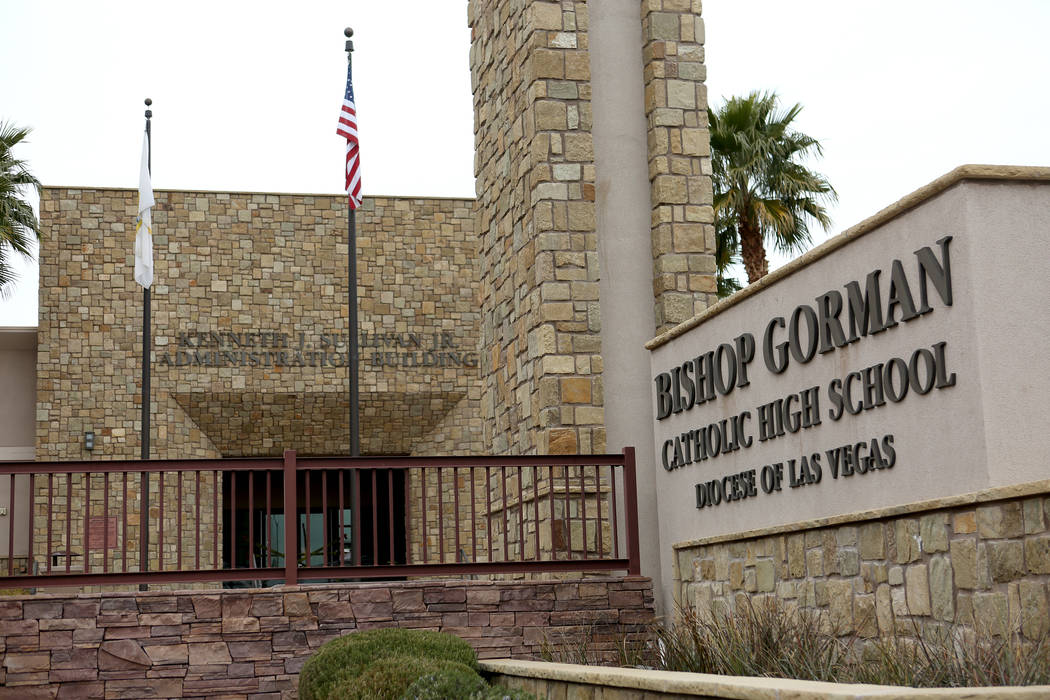 The Kenneth J. Sullivan Jr. administrative building of Bishop Gorman Catholic High School as seen on Tuesday, January 2, 2018. Michael Quine Las Vegas Review-Journal @Vegas88s