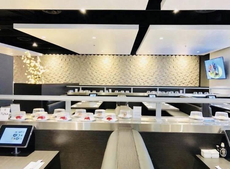 The interior of Sapporo Revolving Sushi on Spring Mountain Road. (Sapporo Revolving Sushi Facebook)