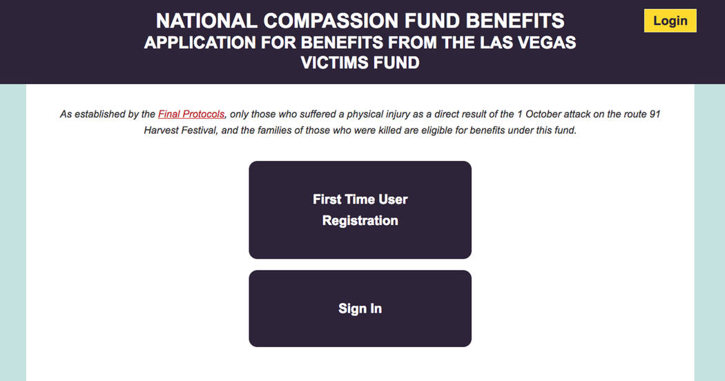 Those eligible for money out of the Las Vegas Victims' Fund can now apply at benefits.nationalcompassionfund.org.