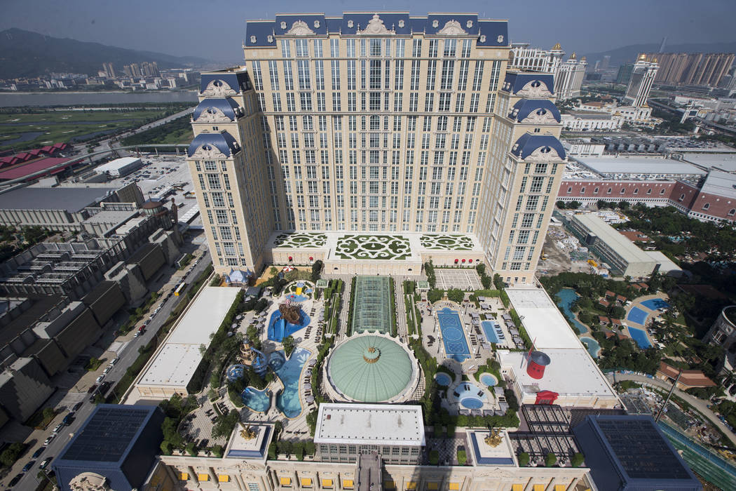The Parisian Macao hotel-casino is photographed during a tour on Wednesday, Sept. 14, 2016, in Macau. Erik Verduzco/Las Vegas Review-Journal Follow @Erik_Verduzco