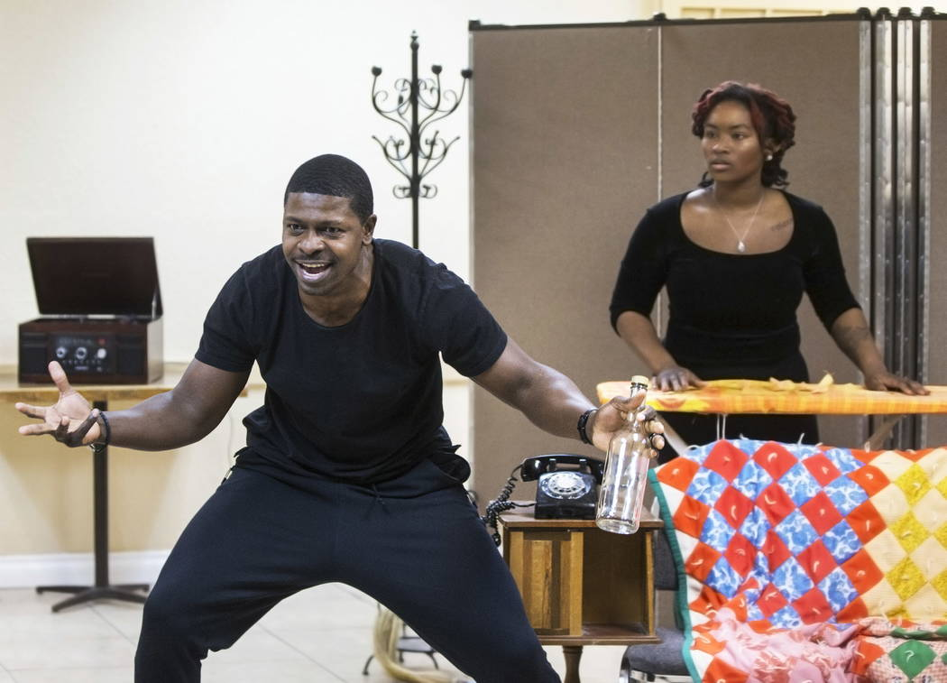 "John Joseph, left/front, works through a scene with Tianna Lewis during rehearsal for ""A Raisin in the Sun"" on Wednesday, January 3, 2018, at First African Methodist Episcopal Ch ..."