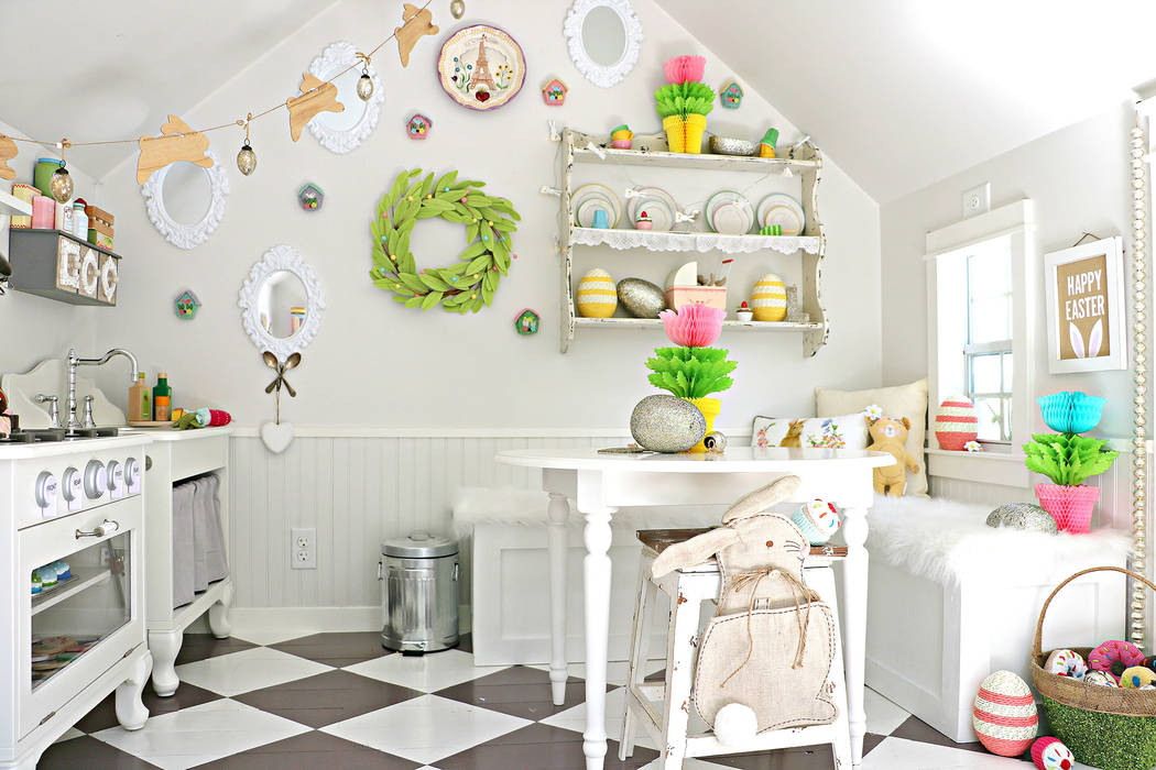 Emily Wilson Photography Jannicke Ramso of Tiny Little Pads, a high-end, full-service interior design firm in Las Vegas, created this whimsical playhouse.