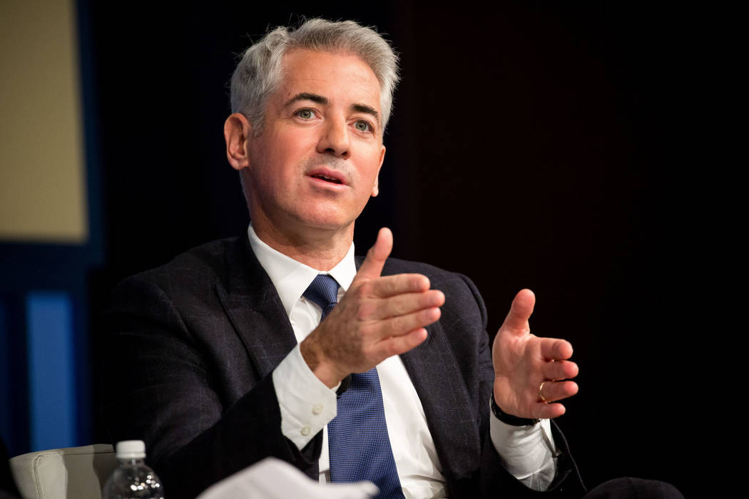 Bill Ackman, chief executive officer of Pershing Square Capital Management LP, speaks during the New York Times DealBook conference in New York, U.S., on Thursday, Nov. 10, 2016. The event brings  ...