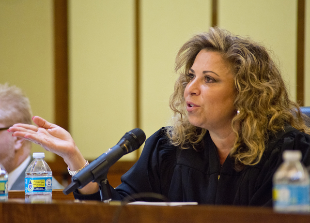 Judge Abbi Silver speaks during Nevada Court of Appeals oral arguments in the Thomas & Mack Moot Courtroom on the UNLV campus in Las Vegas on Tuesday, Nov. 15, 2016. Daniel Clark/Las Vegas Rev ...