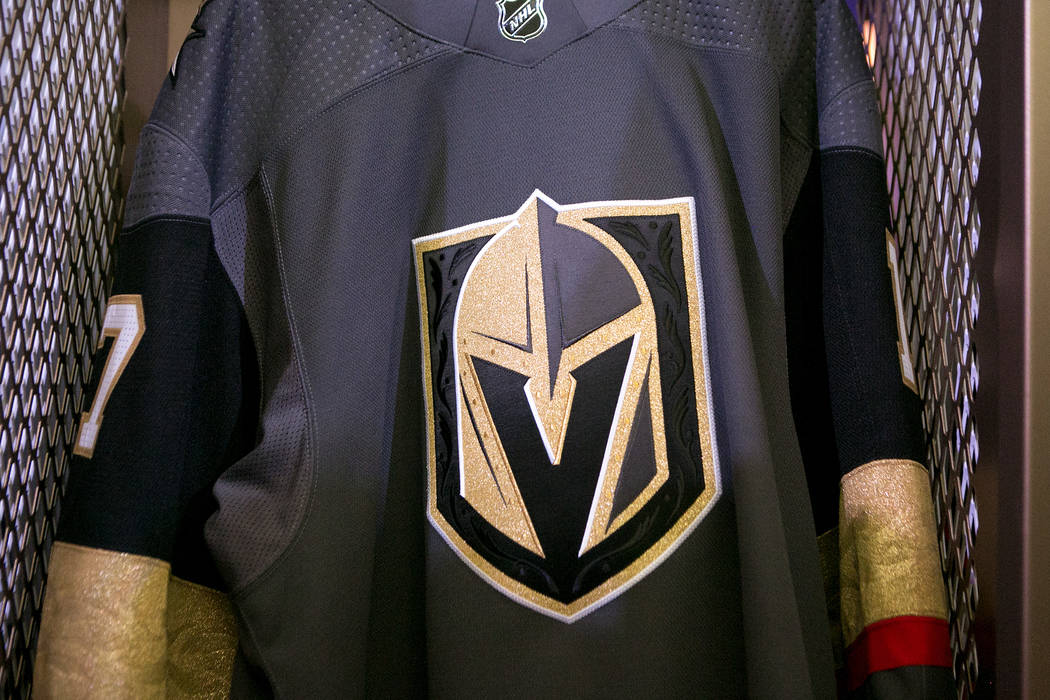 The Golden Knights uniforms are unveiled for the first time at Intrigue  Nightclub at Wynn hotel 0be8dd941