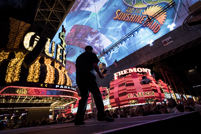 KC and the Sunshine Band performs at the Fremont Street Experience in Las Vegas on Saturday, May 23, 2015. (Joshua Dahl/Las Vegas Review-Journal)