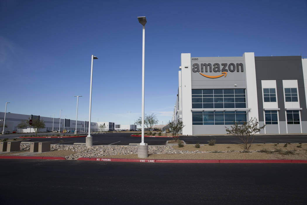The Amazon Fulfillment Center in North Las Vegas, Wednesday, Jan. 3, 2018. Erik Verduzco/Las Vegas Review-Journal