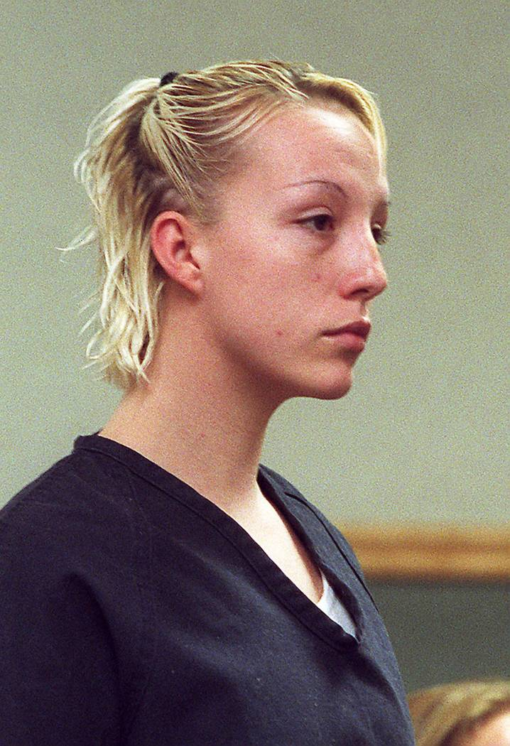 Kirstin Lobato makes an appearance in Clark County District Court in Las Vegas on July 31, 2001. Gary Thompson Las Vegas Review-Journal