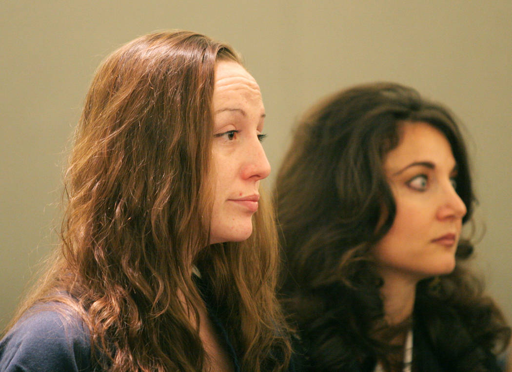 Kirstin Lobato makes an appearance in Clark County District Court in Las Vegas on Nov. 21, 2006. Ronda Churchill Las Vegas Review-Journal