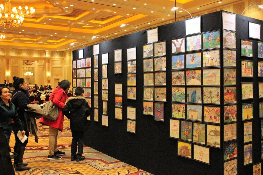 "Entries from the Nevada Housing Division's ""Where I Live"" art contest on display at the reception Dec. 7 at The Venetian."