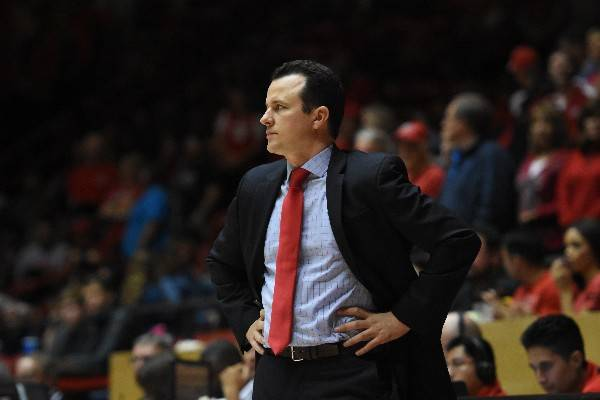New Mexico's Paul Weir coaching in a game. Photo courtesy of University of New Mexico athletics.